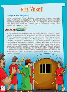 Kenapa Nabi Yusuf Dipenjara Islam And Science, Learn Islam, Book Layout, Islamic Pictures, Stories For Kids, Islamic Quotes, Quran, Storytelling, Muslim