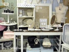 My So Called Junky Life: July Bottoms Up - Antique Booth