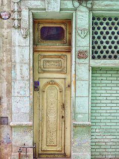 Cuba - Green Door Image Art by Jo Ann Tomaselli. Fine art prints and posters for sale.  #joanntomaselli #fineartphotography #cuba