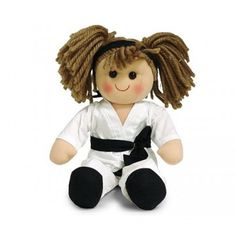 Karate Girl - Fun doll for any martial art fan.