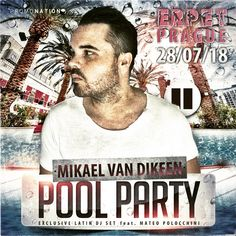 The best Summer EDM party ☀️, fresh Summer cocktails 🍹🍸, awesome bikini girls ⛱👩❤️👩, swimming pool 💦 and especially the best dance music ⏸ in a special Latin DJ set 💃🏾. All this one on Saturday 28th of July at ERPET Center Prague. ⛳️🔝🔥 You're welcome. ❤️🤠👻🥂 #mikaelvandikeen #mvd #dj #musicproducer #poolparty #lasvegas #djtime #partylife #partytime #beatport #praha #prague #promonation #düsseldorf #göteborg
