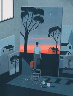 The end of the Artist by Emiliano Ponzi