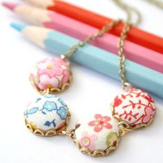 Sweet button necklace