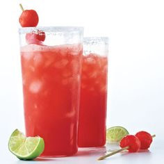 A 100-calorie Watermelon Margarita Recipe? We're sold. #cheers
