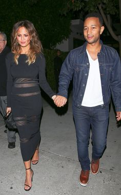 John Legend & Chrissy Teigen from The Big Picture: Today's Hot Pics  Bump alert! The mom-to-be put her baby belly on display while out to dinner with her husband.