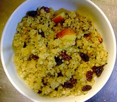 Low Carbon Diet: Couscous with Apples, Raisins and Walnuts