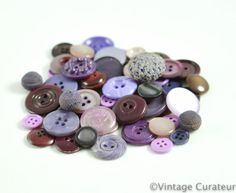Vintage Purple Buttons Mixed Lot