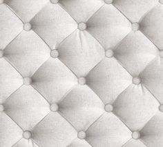 Greyish-white tufted fabric wallpaper by Koziel Made in France 22€/roll