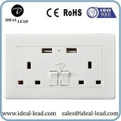 Factory price 2 Gang USB 13a UK Wall Socket