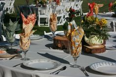 Table setting - Emily's vintage wedding brunch, mis-match china, vintage wedding & party rentals
