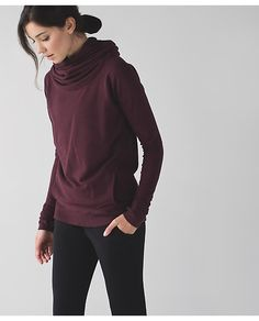 Lululemon Stress Less Hoodie in heathered bordeaux drama $98