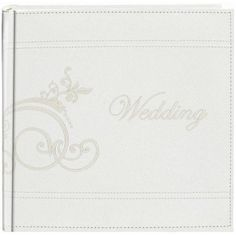 Pioneer Embroidered Scroll and Wedding Sewn Leatherette Cover Photo Album, Ivory ** Want additional info? Click on the image.