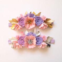 Dreamer flower crown whimsical/ felt flower by kireihandmade Large Flowers, Felt Flowers, Fabric Flowers, Paper Flowers, Felt Diy, Felt Crafts, Diy And Crafts, Felt Headband, Floral Headbands