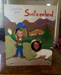 World thinking Day. Switzerland Photo Booth. Includes Our Chalet pic