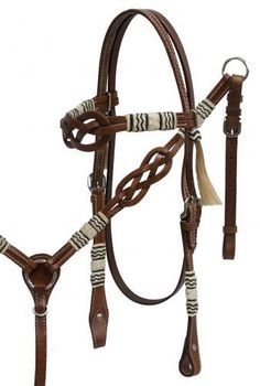 Showman Celtic Knot Headstall Set With Rawhide Braided Accents – Hay River Tack and Supplies