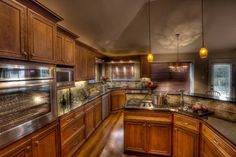 Updated Remodeled Kitchens Dark Cabinets And Wood Floors