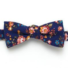 Vintage English Rose Classic Bow Tie - vintage bow ties handmade in the United States