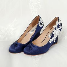 256739123 LUXVEER   Amazon.com  Wedge Wedding ShoesWedding HeelsBlue ...