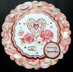 Scalloped Circle Wedding Card - Creative Connections price £2.50 p&p £1.50