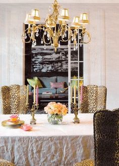 chandlier and leopard print!