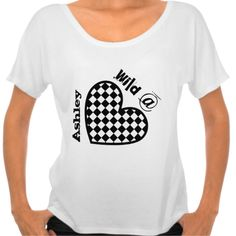 Wild at Heart with Custom Name V002 Shirt.  To see more items you can personalize visit www.zazzle.com/jaclinart*/ #tee #heart #wild #create #personalize