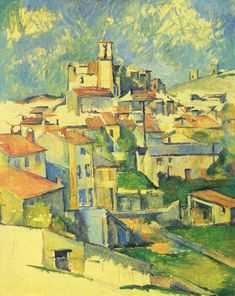 Gardanne - Paul Cezanne  #cezanne #paintings #art