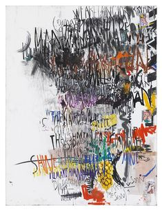 """Despina Stokou – """"The Martin Creeds 4 (white)"""" (2013), mixed material on canvas, 120 x 160 cm; courtesy the artist and Krobath Wien/Berlin"""