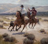 Tom Browning Print - Pardners
