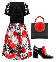 black and red by codrinabazu on Polyvore featuring polyvore fashion style Phase Eight Sans Souci Marni Les Petits Joueurs clothing