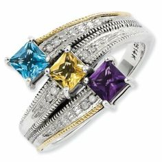 Prefect! 3 stone mothers ring