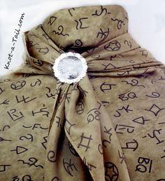 Silk Scarf Wild Rag Larger scarf earth-tone Texas Brands Soft