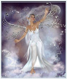 fees elfes - Page 2 Fairy Pictures, Angel Pictures, Beautiful Fantasy Art, Beautiful Fairies, 3d Fantasy, Fantasy Artwork, Magical Creatures, Fantasy Creatures, Moon Fairy