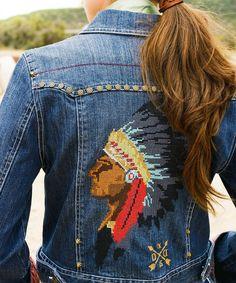 Womens Double D Ranchwear Denim Chief Shikoba Trucker Jacket NWT #DoubleDRanchwear #Jacket