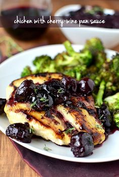 Chicken with Cherry-Wine Pan Sauce (20 Minute Meal!)