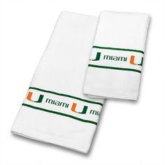 Miami Hurricanes Bath Towels