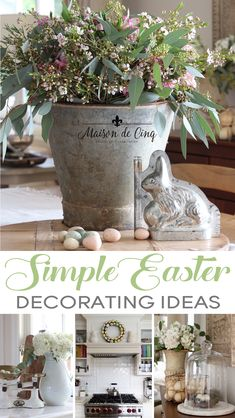 Hop over for some simple yet chic Easter and spring decorating ideas! Spring and Easter inspiration and decor--- Hop over for some simple yet chic Easter and spring decorating ideas! Spring and Easter inspiration and decor--- Easter Crafts, Easter Decor, Easter Ideas, Easter Centerpiece, Layout Design, Vintage Baskets, Spring Home Decor, Easter Table, Cheap Home Decor