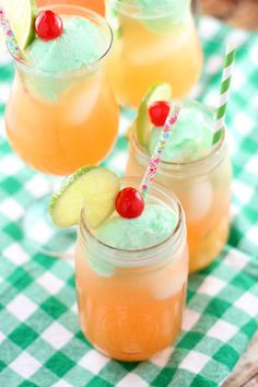 Lime sherbet punch is the quintessential party drink! Remember thinking it was the best thing ever when you were a kid? It still is! Click through for recipe!
