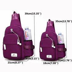 Women Nylon Daily Crossbody Bag Waterproof Durable Chest Bag Shoulder Bag is Worth Buying - NewChic Mobile.