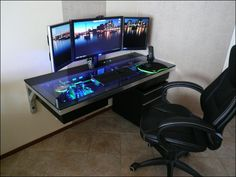 Custom computer desk.