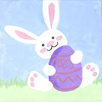 Kids will enjoy painting a fluffy bunny for an Easter party. #socialartworking