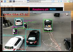 Raspberry Pi Projects: Car Detection with Raspberry pi 4 + Intel Neural Compute . - Projects to Try - Learn Computer Coding, Computer Vision, Diy Electronics, Electronics Projects, Projets Raspberry Pi, Raspberry Projects, Raspberry Pi Computer, Rasberry Pi, Diy Tech