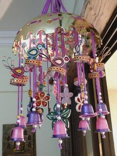 Make quilling bird wind chime