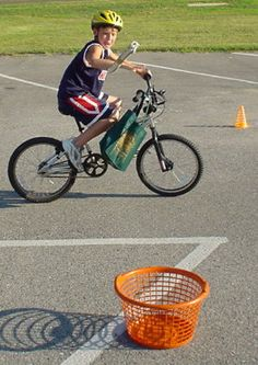 Bike Rodeo! This is a great idea for a fun program on a sunny day.