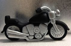Motorbike Cake Topper edible fondant icing by NicolePeglerCakeArt, $55.00