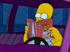 Homer Simpson reads.