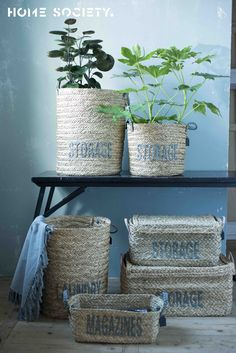 Home Society - we love small independent shops Wicker Baskets, Shelves, Shops, Lifestyle, Home Decor, Shelving, Tents, Decoration Home, Room Decor
