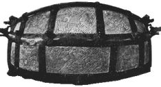 The Franks Casket a small box of carved whalebone produced by Viking craftsmen in Northumbria at the end of the 7th cent. A.D. The lid and sides have runic inscriptions, and the motifs carved with scenes both from Norse and Classical mythology and Christianity, including the tale of Weland Smith, the Adoration of the Magi, a sacrifice to Óðinn, the discovery of Romulus and Remus with the wolves and the image of a Viking archer named Egill (whose story, unfortunately is now lost).