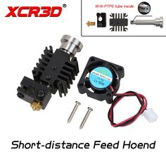 Wholesale prices US $10.73  XCR3D 3D Printer Parts Short-distance Feed Hotend Integrated Metal Universal Hotend Kit with PTFE Tube inside 1.75mm 12V 24V Fan  #XCRD #Printer #Parts #Shortdistance #Feed #Hotend #Integrated #Metal #Universal #PTFE #Tube #inside  #Internet
