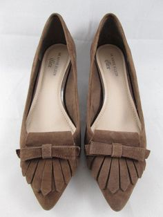 7b12ad86c7d4 Cute for Fall. Anne Klein iFlex shoes 8 M pumps taupe tan suede kitten heels  kiltie flap Malik  AnneKlein  PumpsClassics