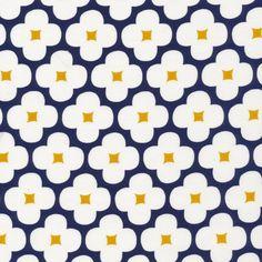 162412 Floret   Dark Navy Corduroy from Spring Quartet by Jessica Jones for Cloud9 Fabrics
